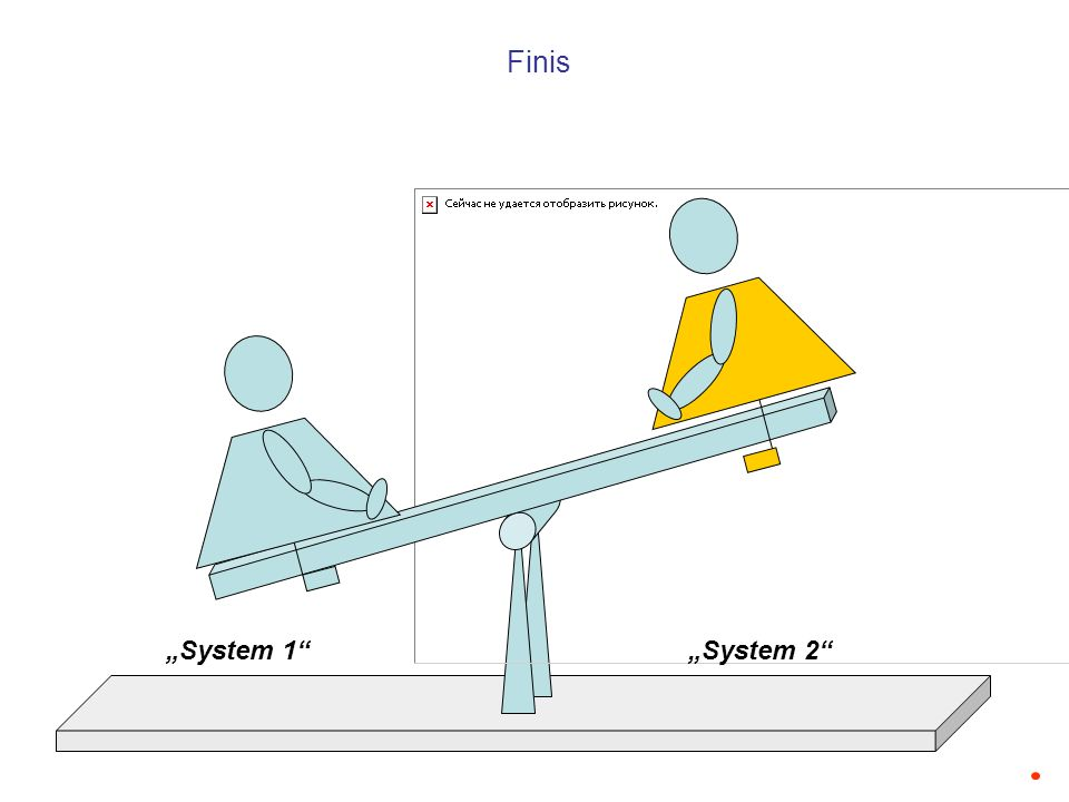 "Finis ""System 1 ""System 2"