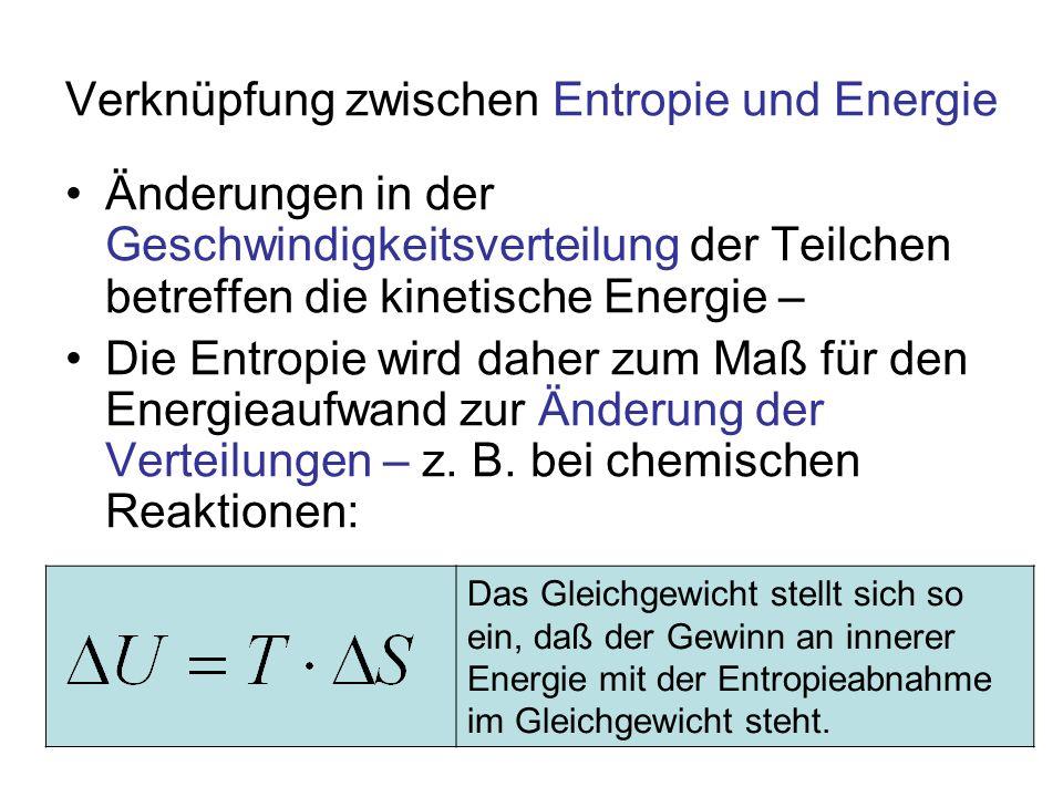Verknüpfung zwischen Entropie und Energie