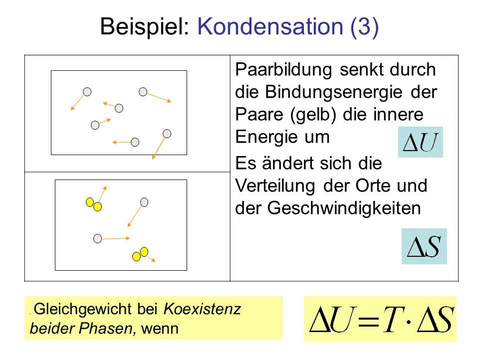 Beispiel: Kondensation (3)