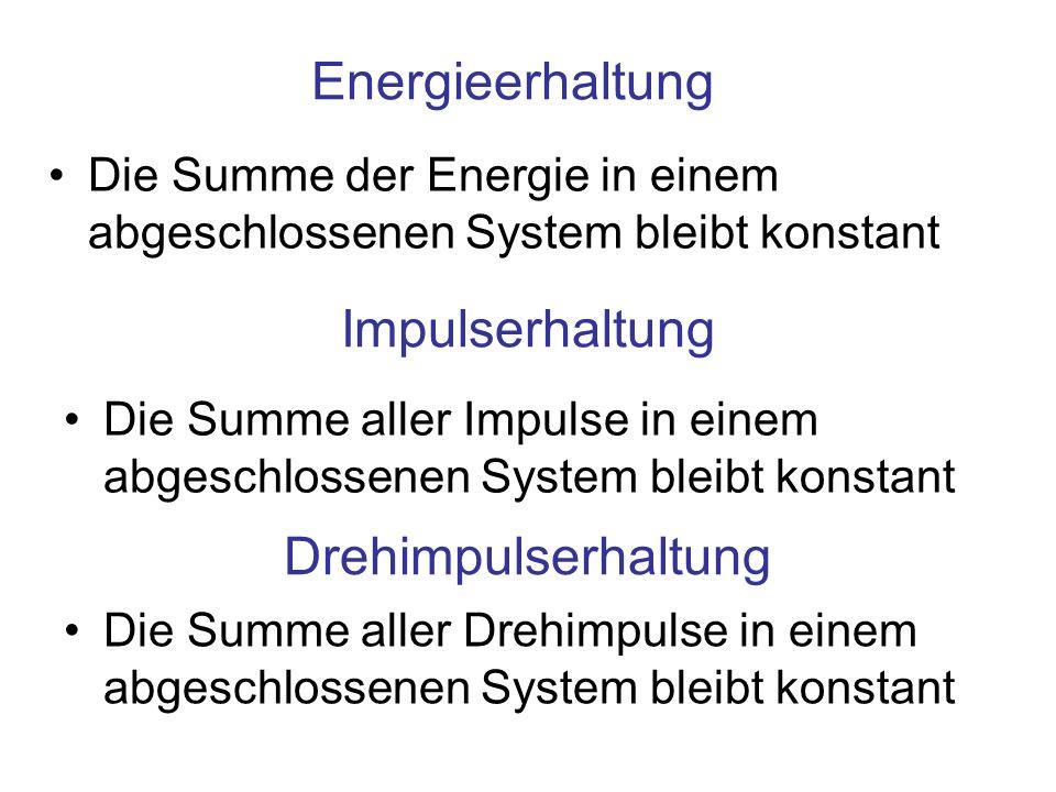 Energieerhaltung Impulserhaltung Drehimpulserhaltung