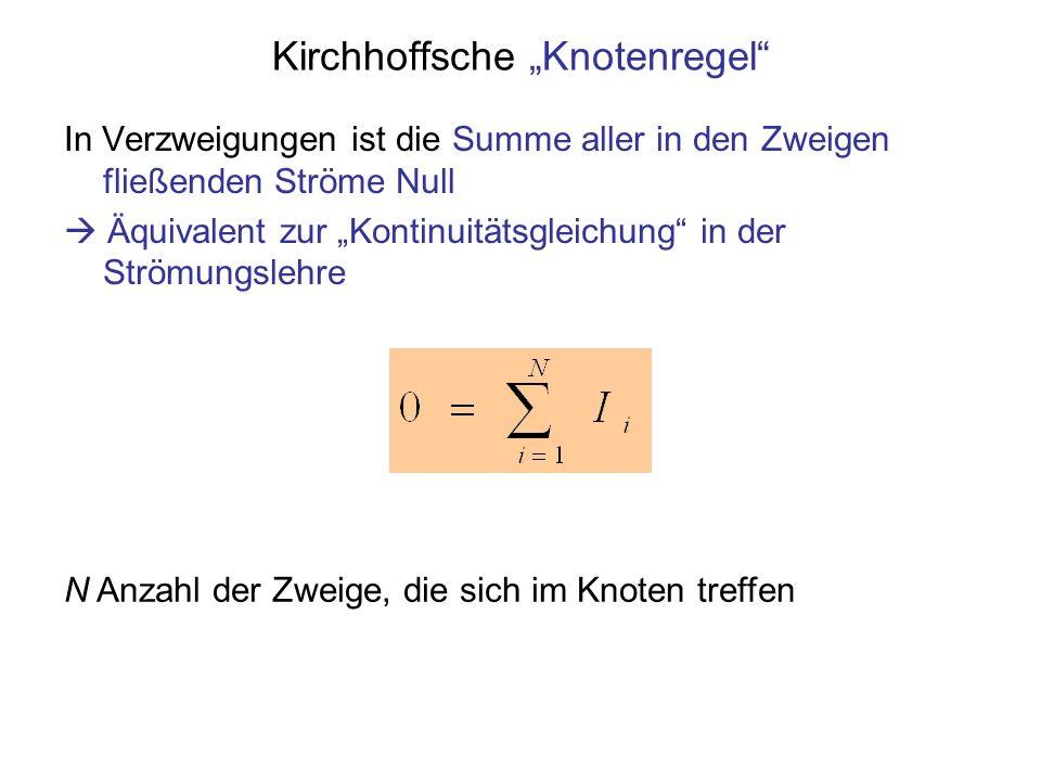 """Kirchhoffsche """"Knotenregel"""