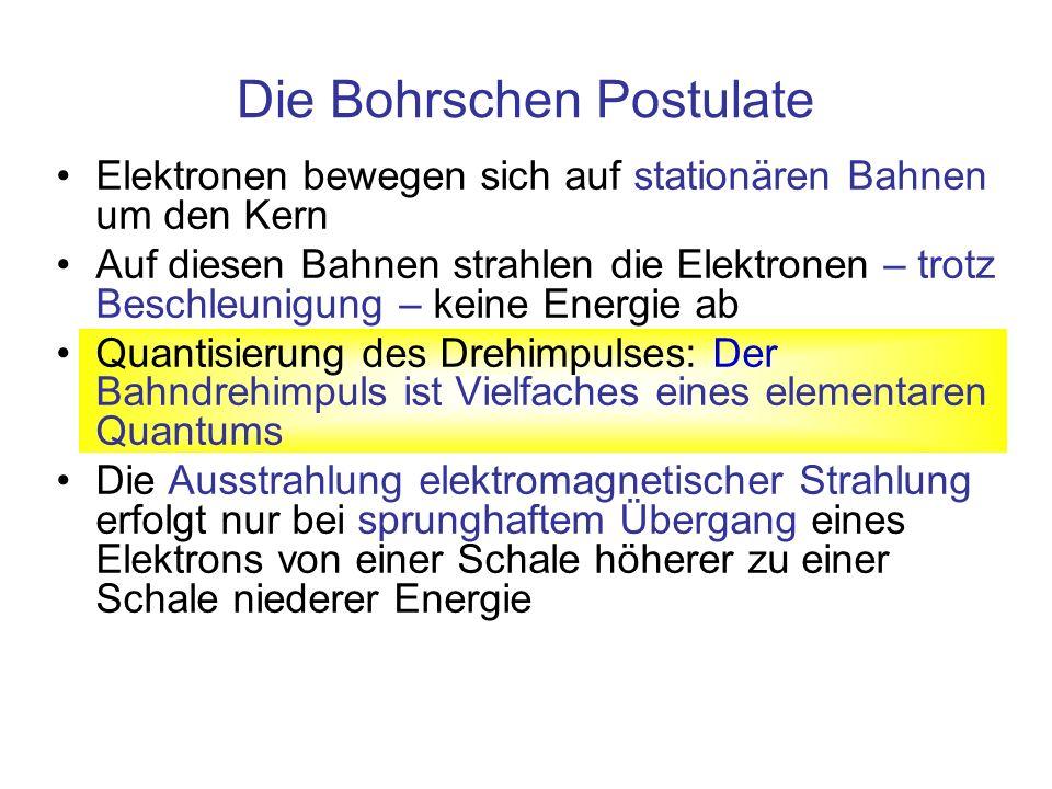 Die Bohrschen Postulate