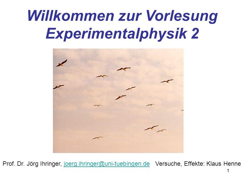 Willkommen zur Vorlesung Experimentalphysik 2