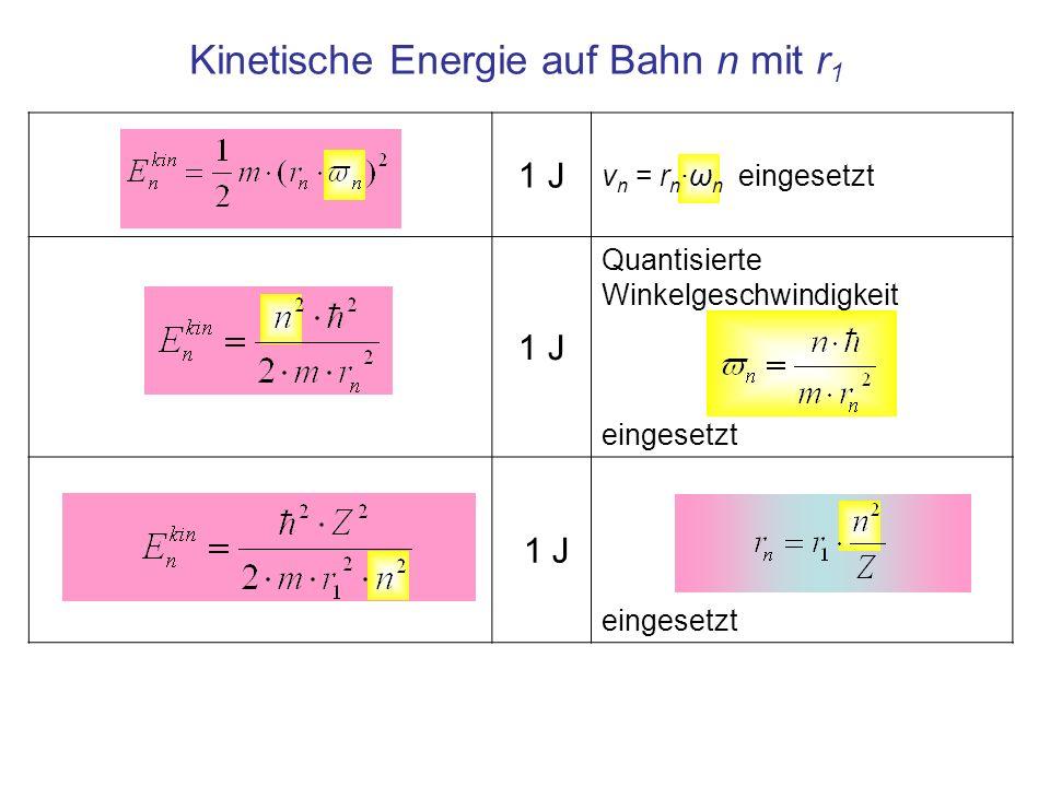 Kinetische Energie auf Bahn n mit r1