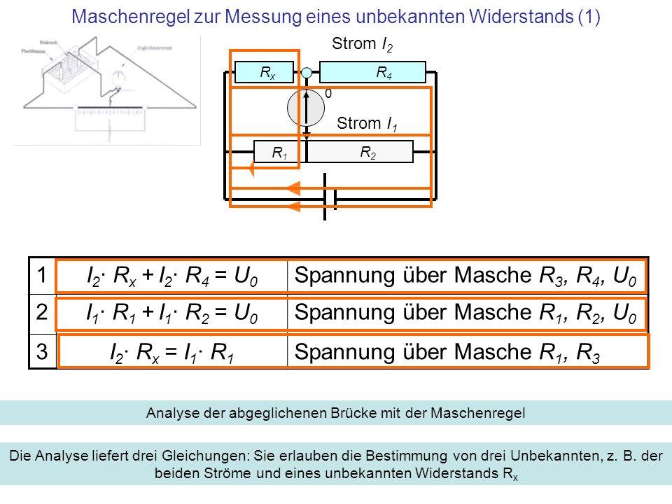 Maschenregel zur Messung eines unbekannten Widerstands (1)