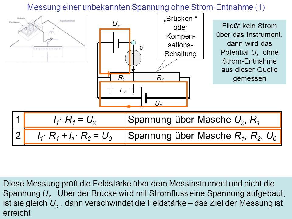 Messung einer unbekannten Spannung ohne Strom-Entnahme (1)