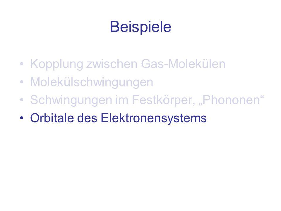 Beispiele Kopplung zwischen Gas-Molekülen Molekülschwingungen