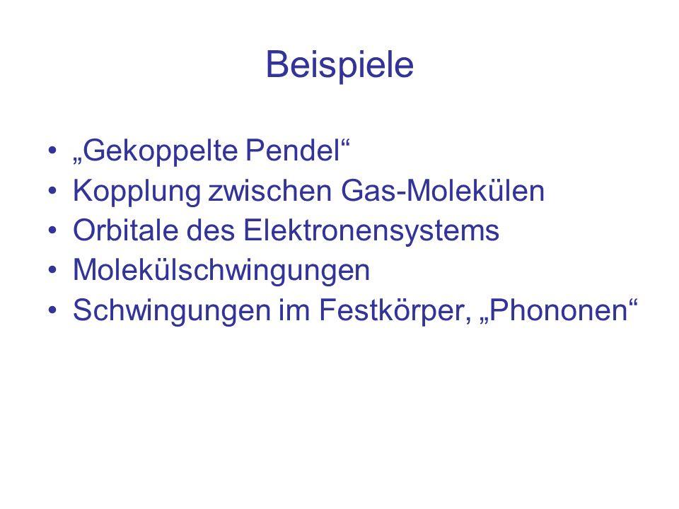 """Beispiele """"Gekoppelte Pendel Kopplung zwischen Gas-Molekülen"""