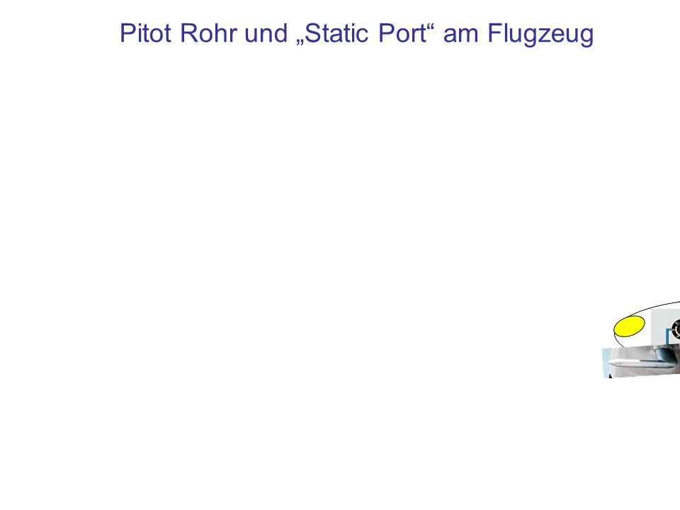 """Pitot Rohr und """"Static Port am Flugzeug"""