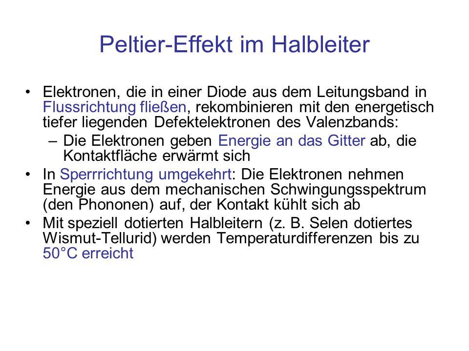 Peltier-Effekt im Halbleiter