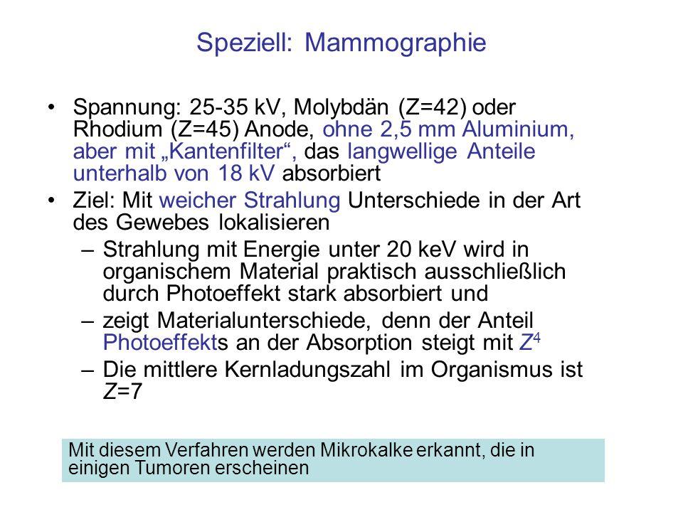 Speziell: Mammographie
