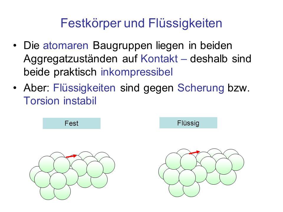 Festkörper und Flüssigkeiten