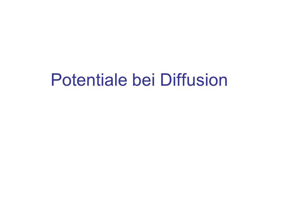 Potentiale bei Diffusion