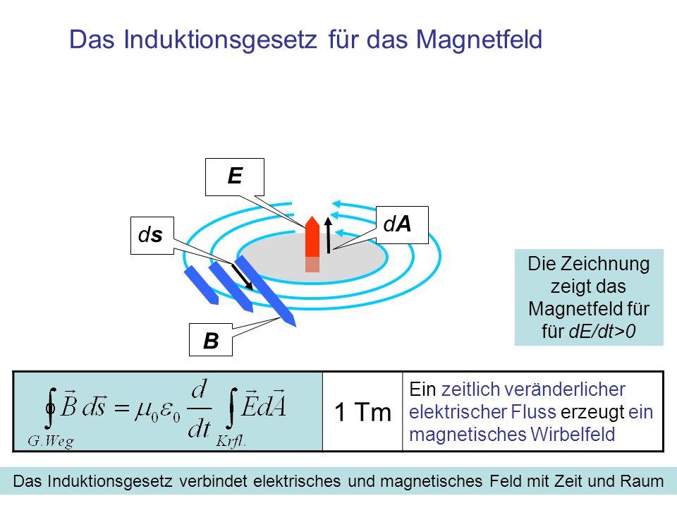 Das Induktionsgesetz für das Magnetfeld