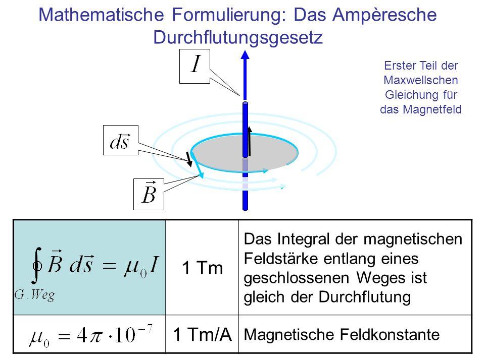 Mathematische Formulierung: Das Ampèresche Durchflutungsgesetz