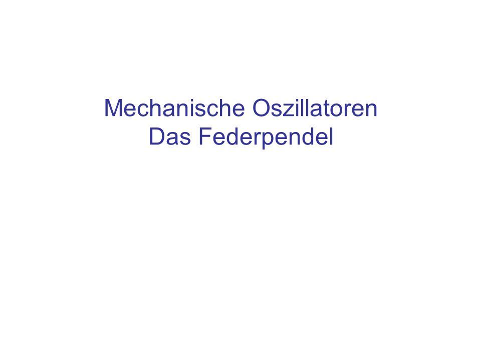 Mechanische Oszillatoren Das Federpendel