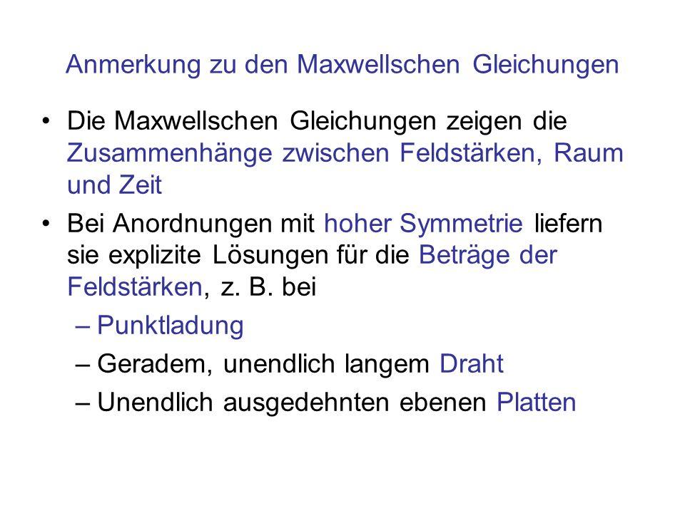 Anmerkung zu den Maxwellschen Gleichungen