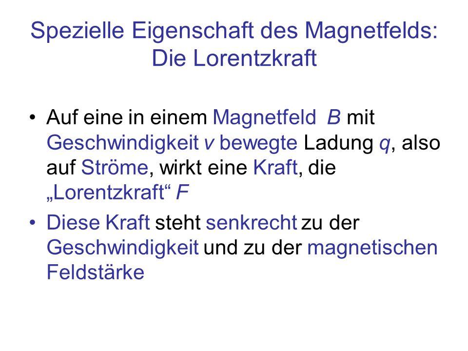 Spezielle Eigenschaft des Magnetfelds: Die Lorentzkraft