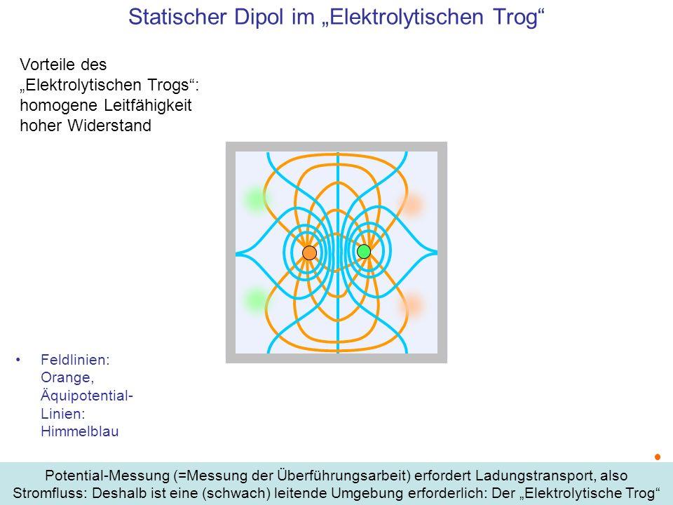 """Statischer Dipol im """"Elektrolytischen Trog"""