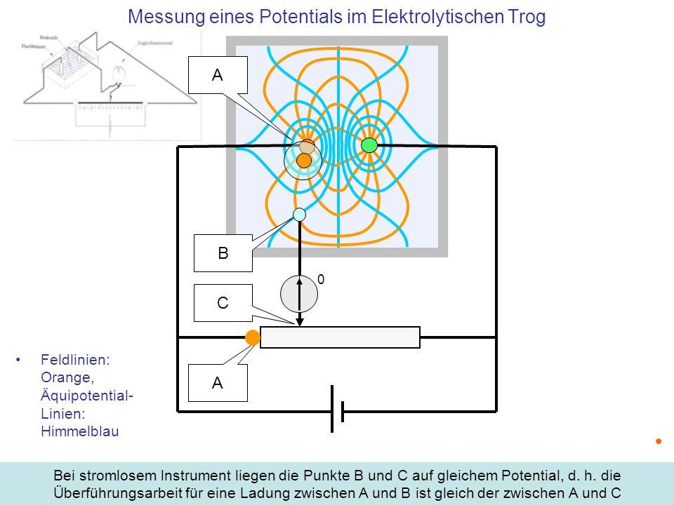Messung eines Potentials im Elektrolytischen Trog