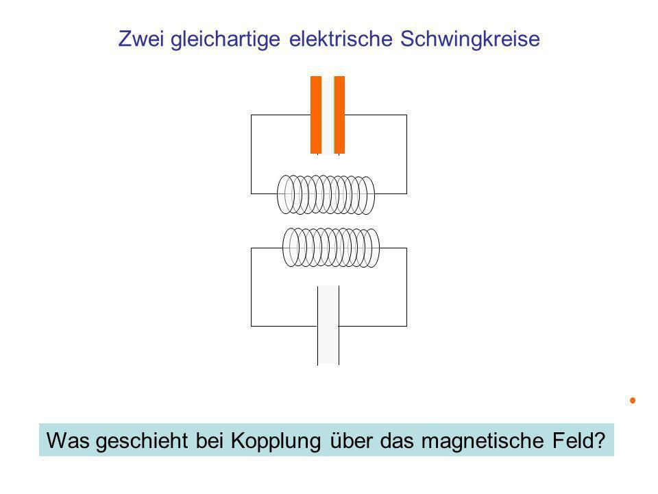 Zwei gleichartige elektrische Schwingkreise