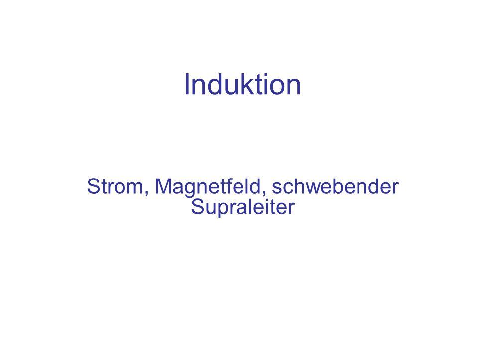 Strom, Magnetfeld, schwebender Supraleiter