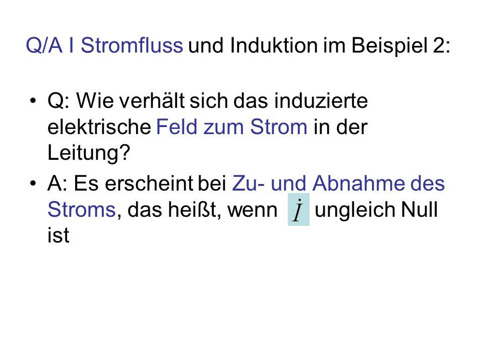 Q/A I Stromfluss und Induktion im Beispiel 2: