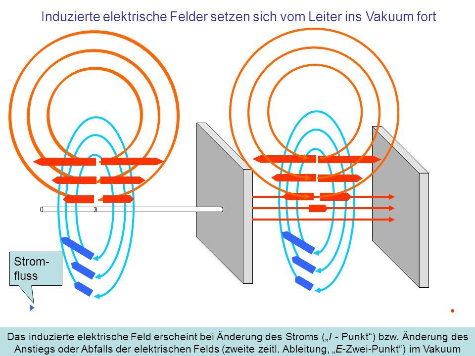 Induzierte elektrische Felder setzen sich vom Leiter ins Vakuum fort