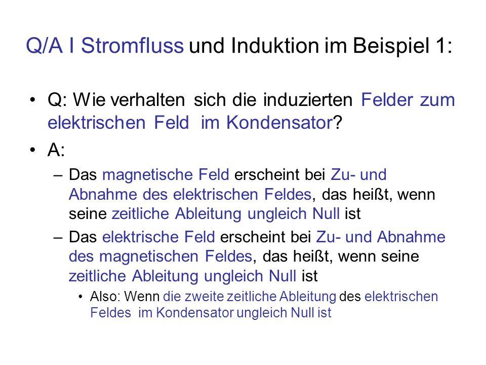 Q/A I Stromfluss und Induktion im Beispiel 1: