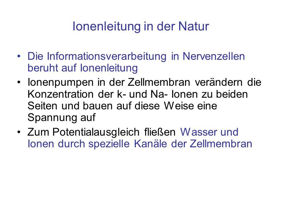 Ionenleitung in der Natur