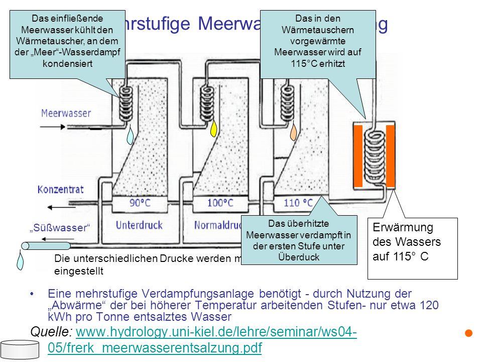 Mehrstufige Meerwasserentsalzung