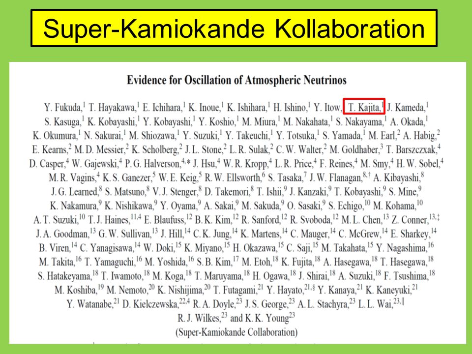 Super-Kamiokande Kollaboration