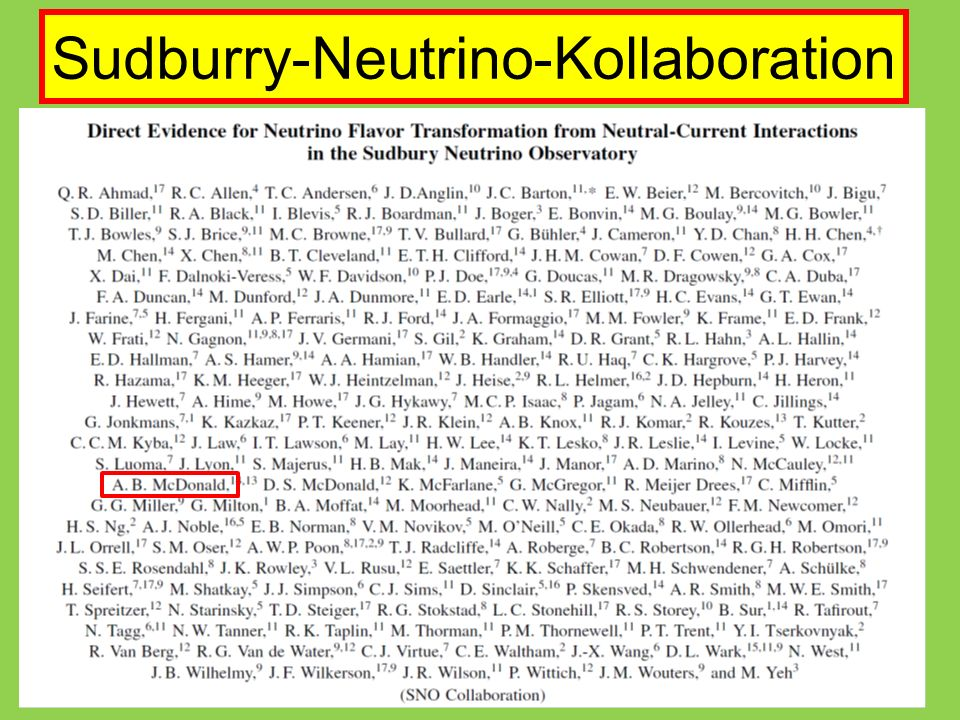 Sudburry-Neutrino-Kollaboration