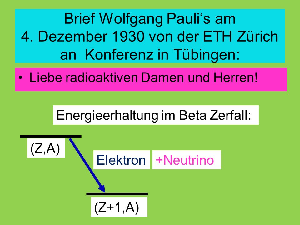 Brief Wolfgang Pauli's am 4