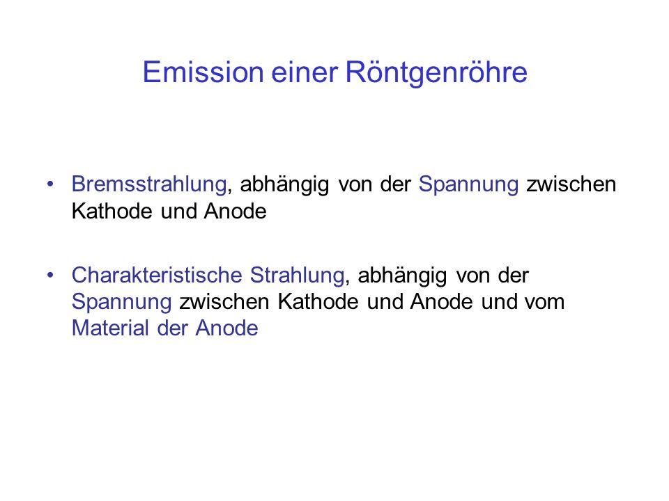 Emission einer Röntgenröhre
