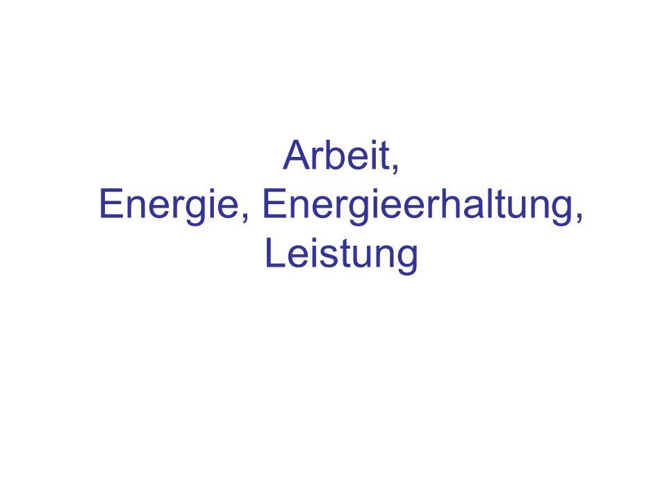 Arbeit, Energie, Energieerhaltung, Leistung