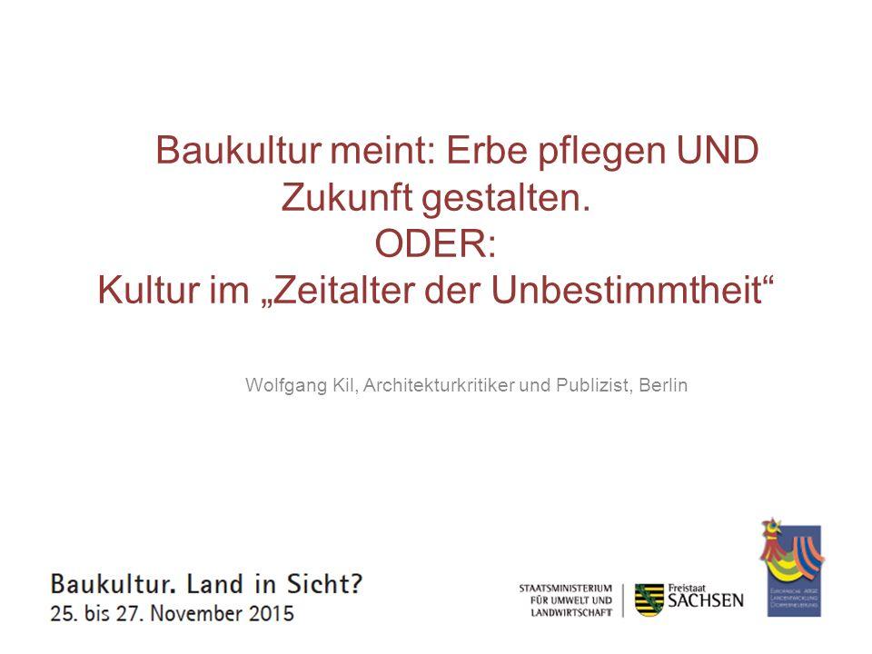 Wolfgang Kil, Architekturkritiker und Publizist, Berlin