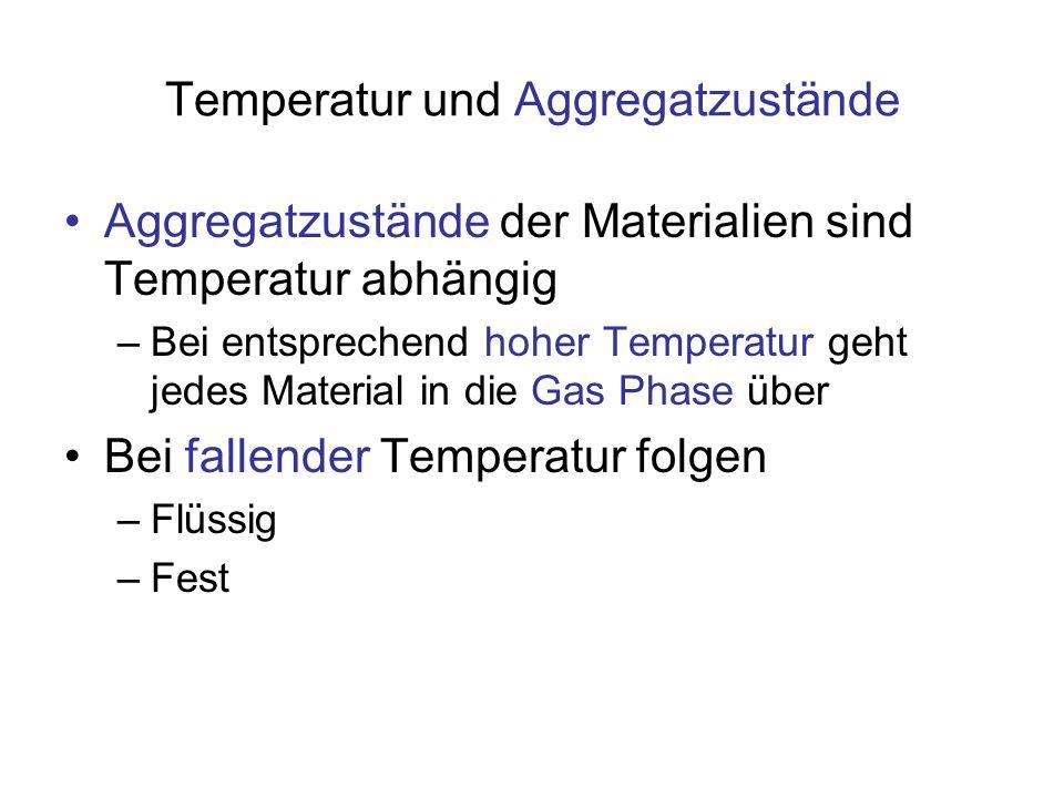Temperatur und Aggregatzustände