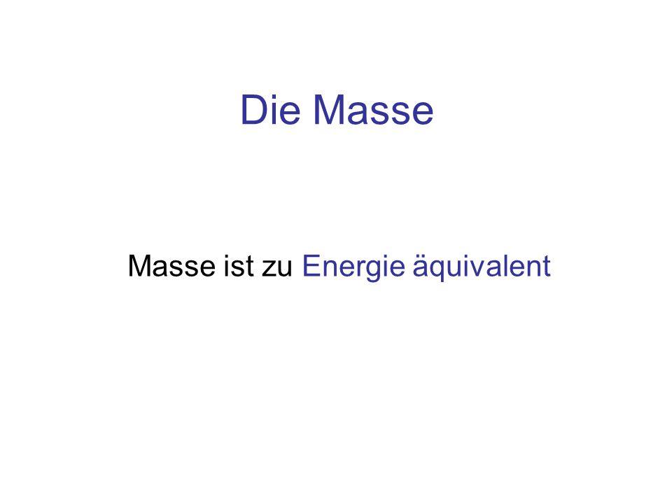 Masse ist zu Energie äquivalent