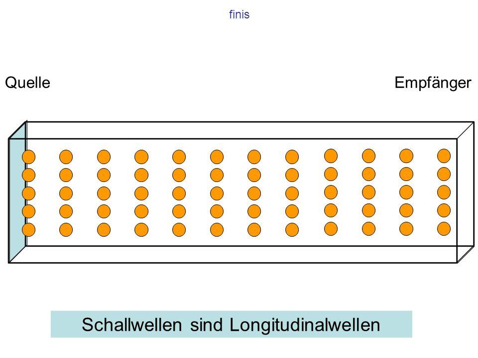 Schallwellen sind Longitudinalwellen
