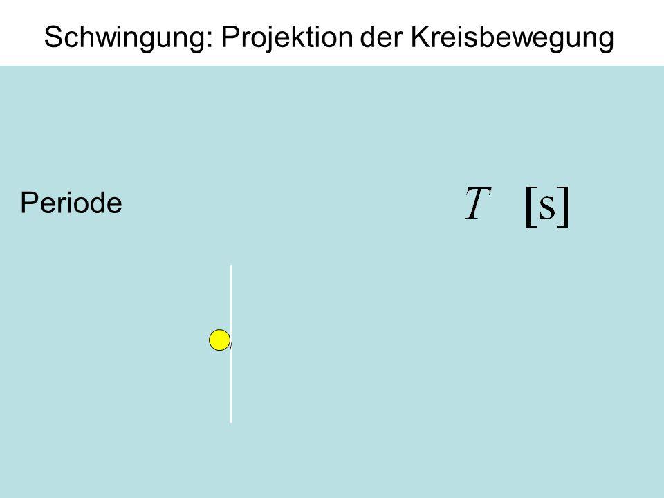Schwingung: Projektion der Kreisbewegung