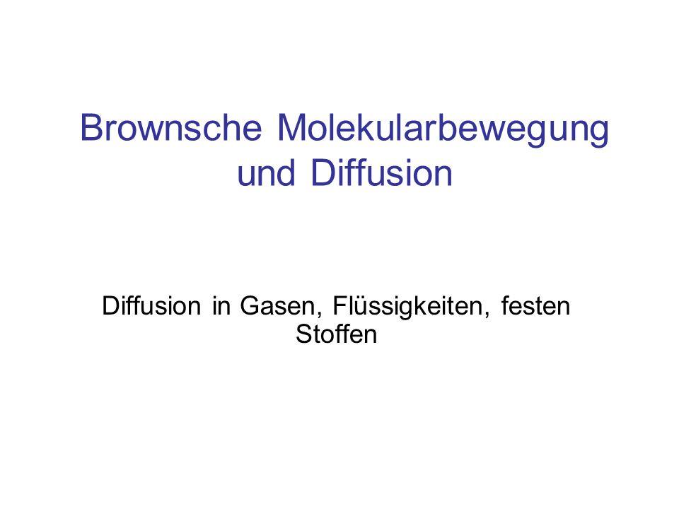 Brownsche Molekularbewegung und Diffusion