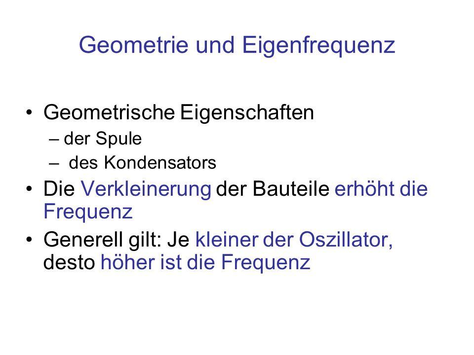 Geometrie und Eigenfrequenz