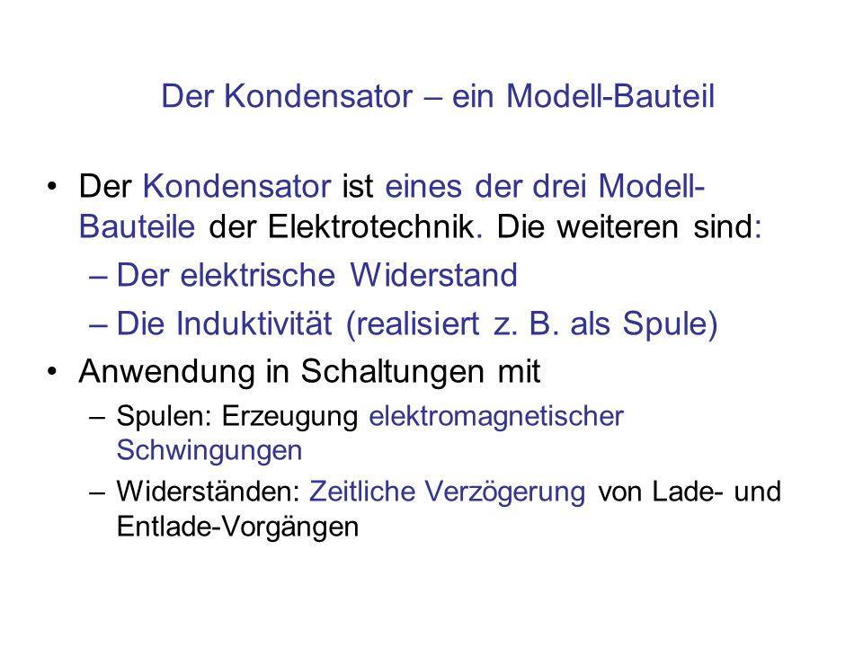 Der Kondensator – ein Modell-Bauteil