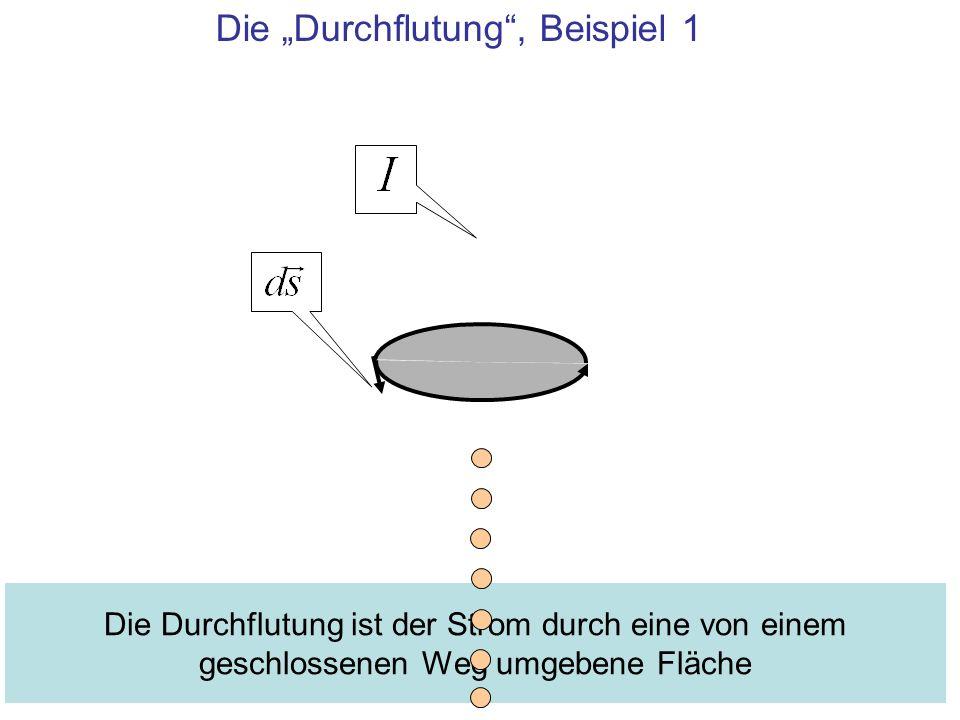 """Die """"Durchflutung , Beispiel 1"""