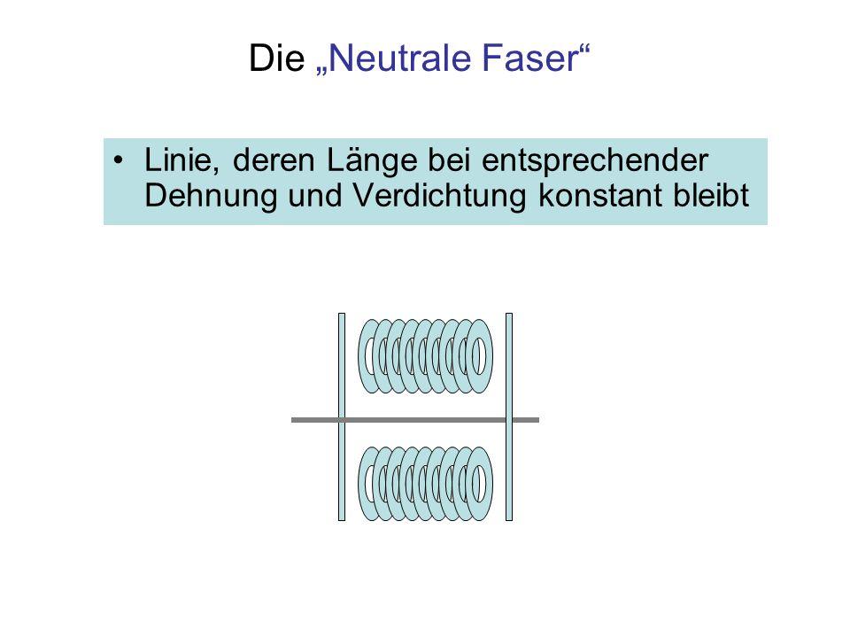 """Die """"Neutrale Faser Linie, deren Länge bei entsprechender Dehnung und Verdichtung konstant bleibt"""