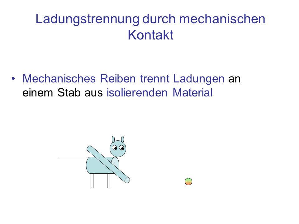 Ladungstrennung durch mechanischen Kontakt