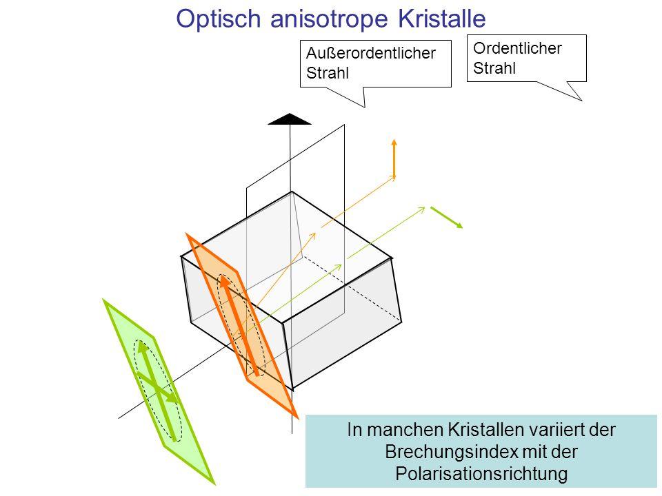Optisch anisotrope Kristalle