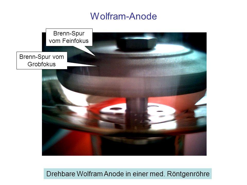 Wolfram-Anode Drehbare Wolfram Anode in einer med. Röntgenröhre