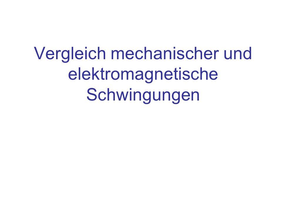 Vergleich mechanischer und elektromagnetische Schwingungen